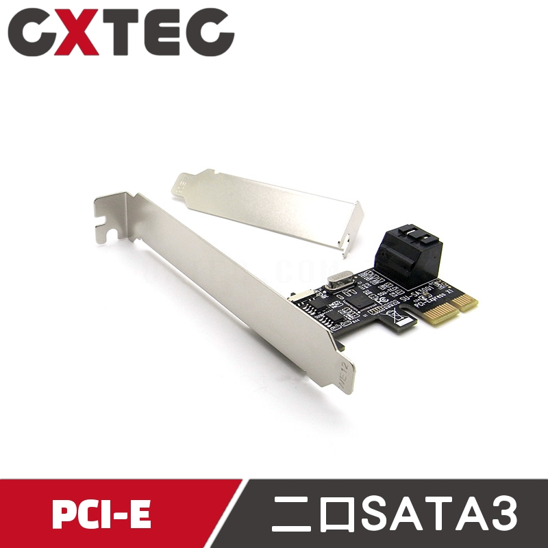 PCI-E to 2 PORT SATA 3.0 擴充卡 轉接卡 ASM1061 SATA3 PCIE SEC-AS1