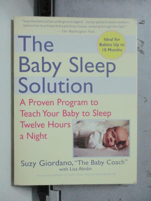 【書寶二手書T1/原文書_OSV】The Baby Sleep Solution_Lisa Abidin