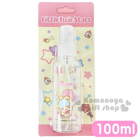 〔小禮堂〕雙子星 噴霧式空瓶《透明.星星.飛姿.100ml》可自由補裝內容物