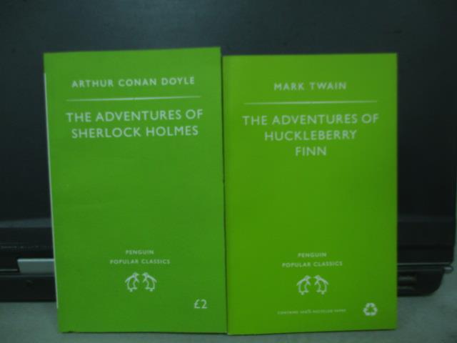 【書寶二手書T1/原文書_MNH】The adventures of sherlock holmes等_共2本合售