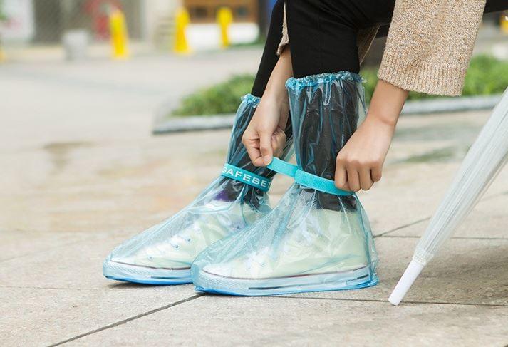 戶外旅遊加厚防滑雨鞋套超強防水高筒雨套49元