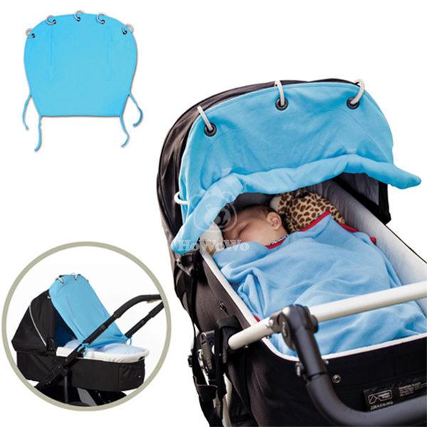 嬰兒推車防曬窗簾 可捲起防曬罩 棉質遮陽布 SS0664
