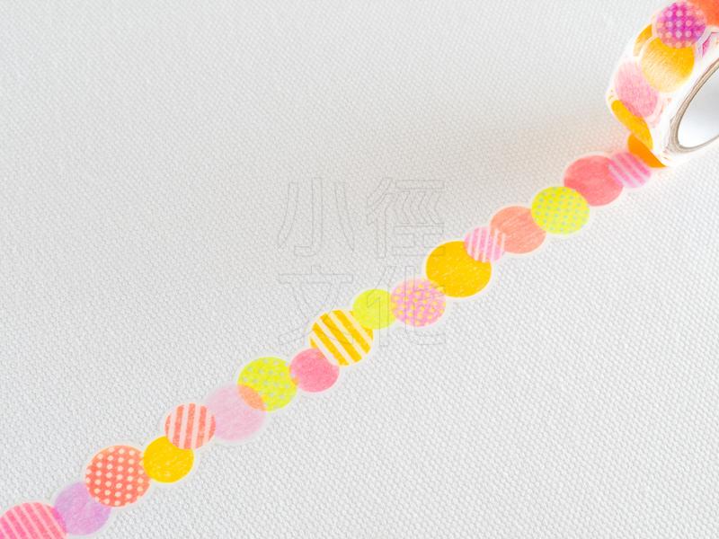 *小徑文化*日本進口和紙膠帶 PINE BOOK nami.nami Aqua Neon系列 ( TM00444 )