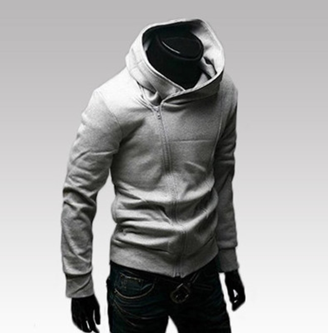 50%OFF SHOP【AG021258C】斜拉鍊薄款男式連帽衛衣杭州貨源男外套