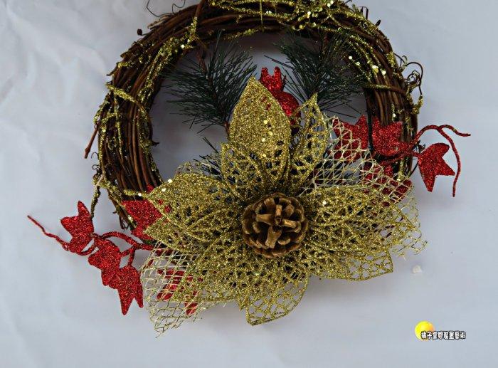 [橘子空間裝置藝術] 金蔥聖誕榭寄生吊飾.聖誕節飾品.掛飾 ☆聖誕樹.居家.店面.櫥窗.玄關.大廳擺飾.節慶派對佈置☆