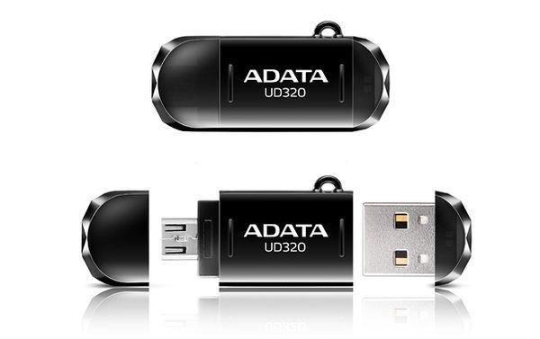 *╯新風尚潮流╭*威剛 UD320 32G 32GB OTG手機電腦兩用隨身碟 AUD320-32G-CBK