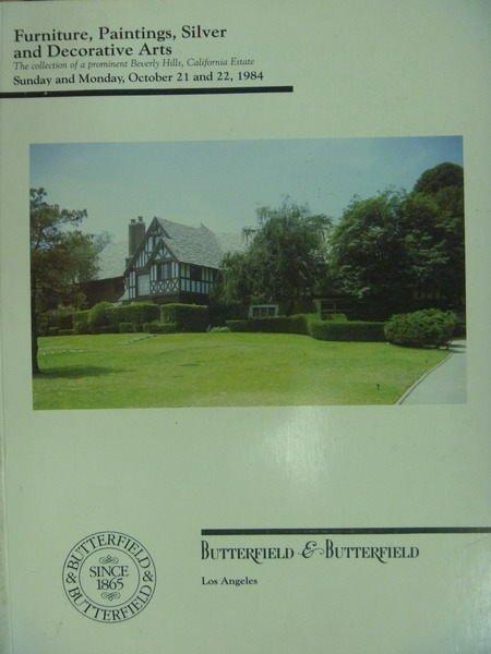 【書寶二手書T9/收藏_YKJ】BB_1984/10/21-23_Beverly Hills Estate…