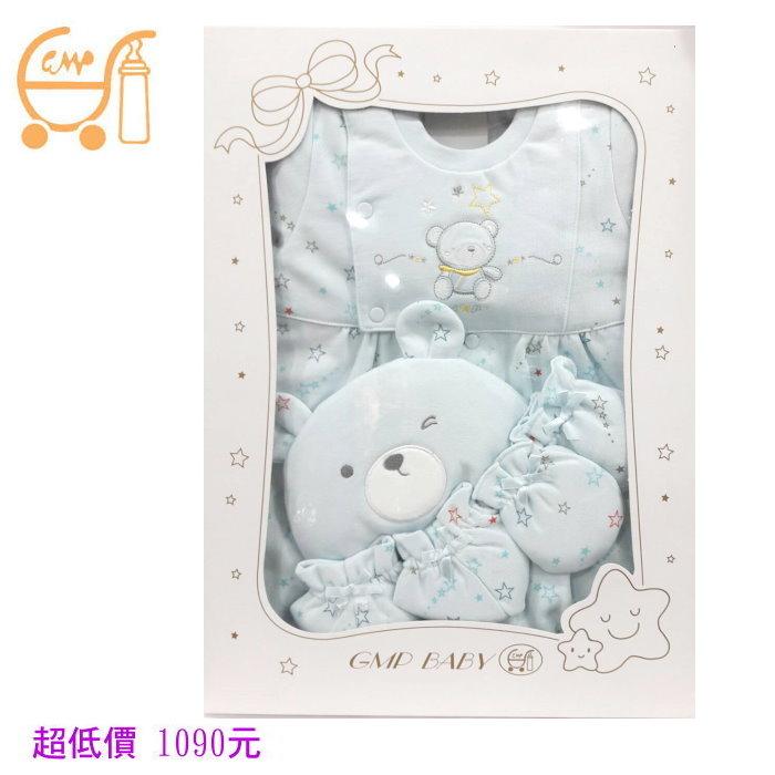 *美馨兒* 東京西川 GMP BABY 流星刷毛兩用兔裝+帽禮盒 1090元