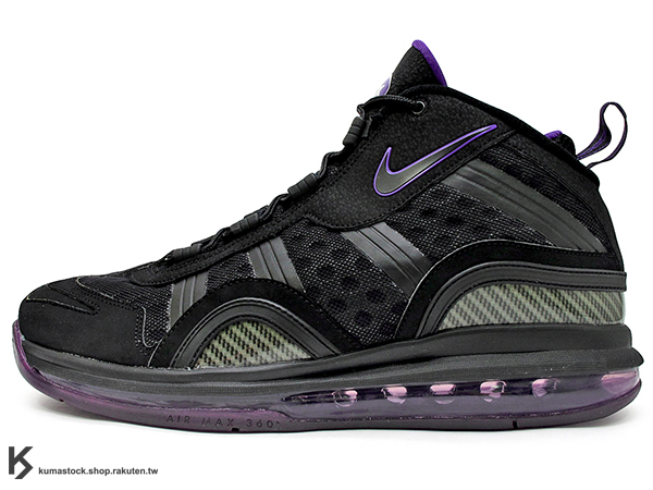 [50% OFF] 2011 台灣未發售 HYBRID 進化版本 全氣墊 籃球鞋 經典復刻 NIKE AIR MAX SENSATION 2011 黑紫 HYPERFUSE 鞋面 密西根五虎之首 CW Chris Webber 2 代言 UPTEMPO 1995 (429767-001) !