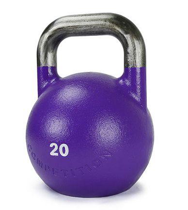 XOANON - 競技壺鈴20公斤 壺鈴20公斤  紫色壺鈴20公斤 專業壺鈴20公斤 重量訓練 20公斤壺鈴 深蹲 swing squat clean press