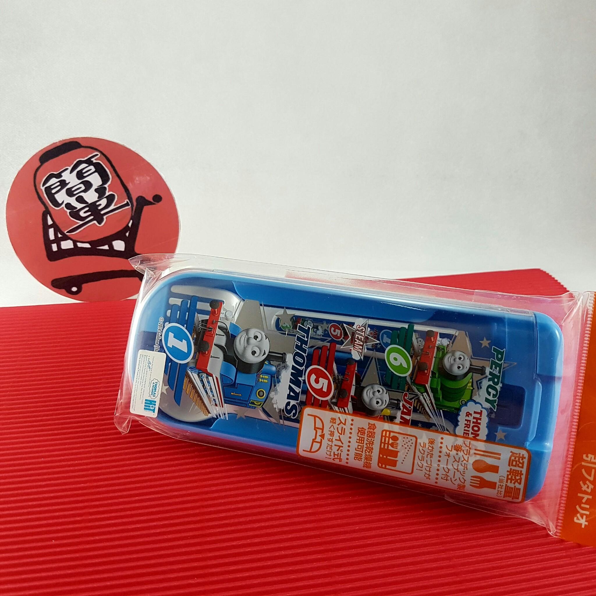 『日本代購品』湯瑪士小火車 兒童超輕量餐具組 筷子湯匙叉子附收納盒 日本製