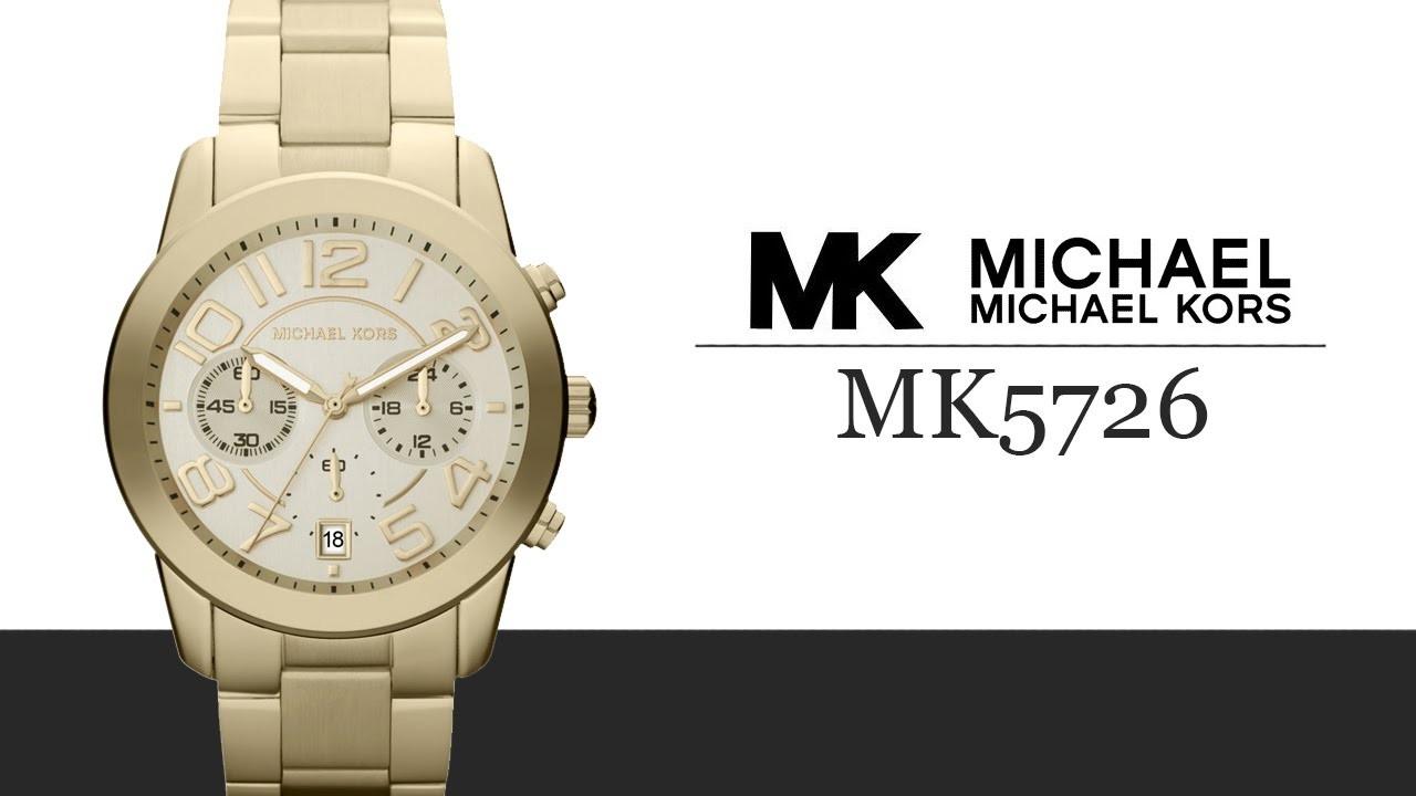 美國Outlet正品代購 MichaelKors MK 金色精鋼  陶瓷 水鑽 三環 手錶 腕錶 MK5726