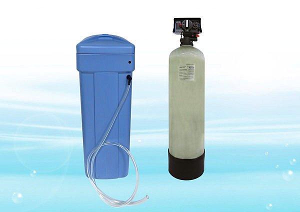 全自動樹脂軟化器(含鹽桶) E1252型 (60公升樹脂) 水塔過濾水垢最佳選擇