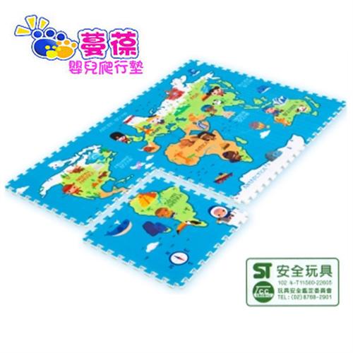 【安琪兒】【蔓葆】無毒PE拼接樂扣墊-小小地球