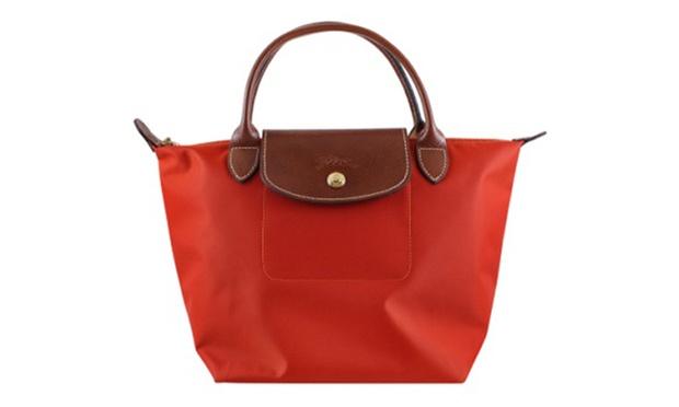 [短柄S號]國外Outlet代購正品 法國巴黎 Longchamp [1621-S號] 短柄 購物袋防水尼龍手提肩背水餃包 辣椒紅