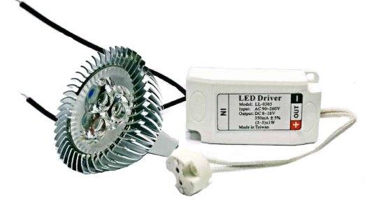 LED 光源★LED MR16杯燈 定電流 5W 12V 白光 黃光 含專用變壓器★永旭照明MRW0-LED-5W12VMR16-D/2700K+1UF