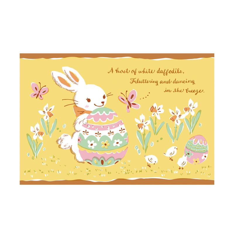 復活節兔子【卡雷爾恰佩克Karel Capek 】-山田詩子/手繪明信片