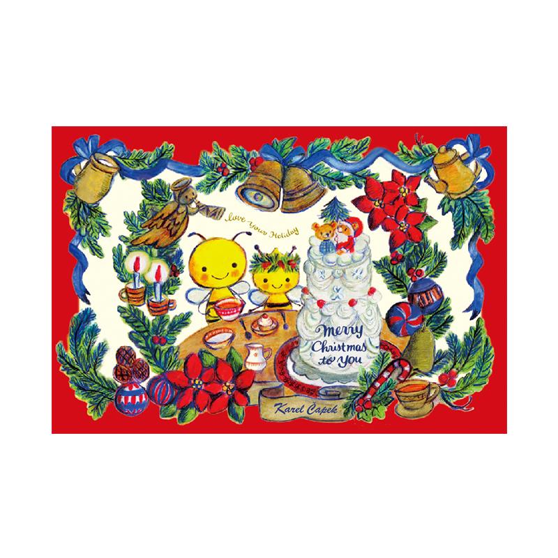 耶誕節的午茶時光【卡雷爾恰佩克Karel Capek 】-山田詩子/手繪明信片