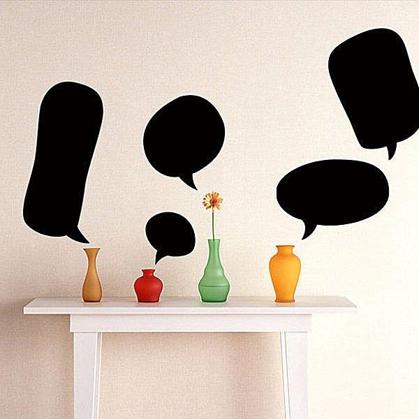 BO雜貨【YV4076】可移除黑板貼 壁貼 背景貼 時尚組合壁貼 璧貼 黑板貼- 留言板