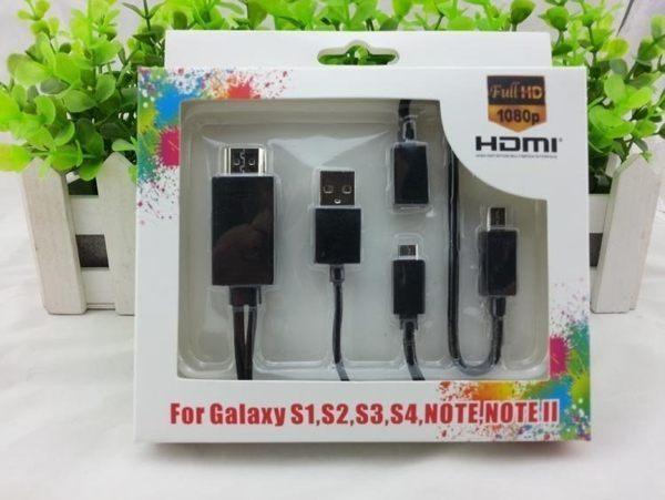 手機接電視投影儀 MHL轉接HDMI高清綫 Micro USB轉TV SAMSUNG SONY 小米【預購】