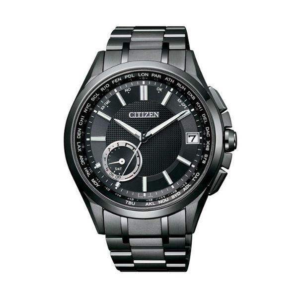 CITIZEN星辰CC3015-57E 炫黑鈦金屬GPS衛星對時腕錶/黑43mm