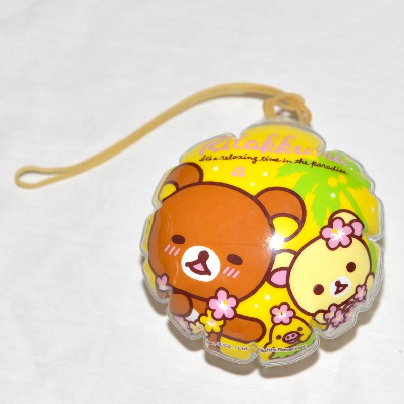 拉拉熊 懶懶熊 PVC 充氣小球 吊飾 附橡皮筋 日本正版