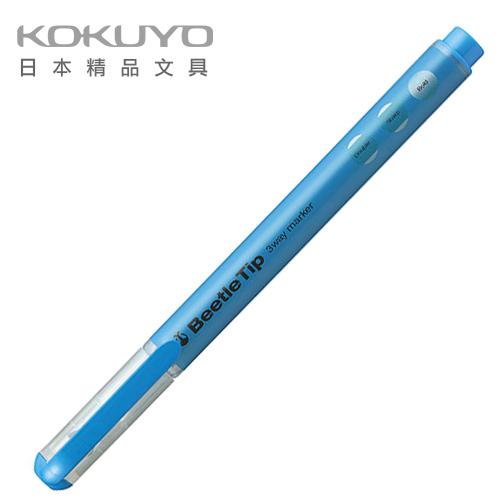 日本 KOKUYO  Beetle Tip獨角仙螢光筆 PM-L301B-藍 / 支