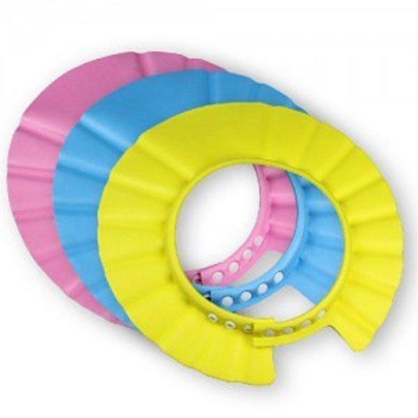 BO雜貨【SV9539】寶寶洗頭帽 嬰幼兒浴帽兒童理髮帽 4段調節大小 加大加厚檔水更佳