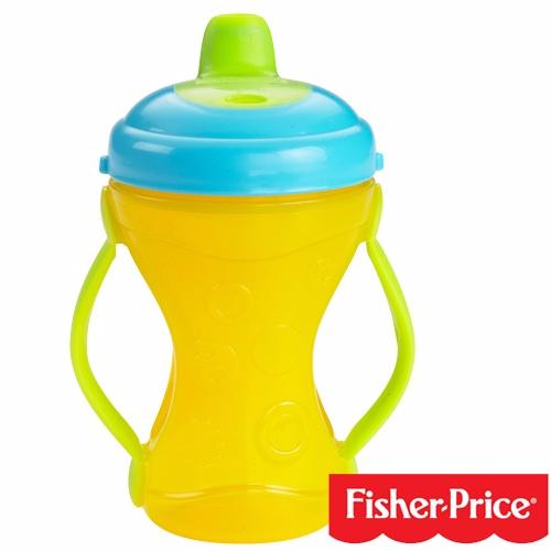 【奇買親子購物網】費雪牌 Fisher-Price 二合一可調節手柄軟嘴訓練杯(236ml)