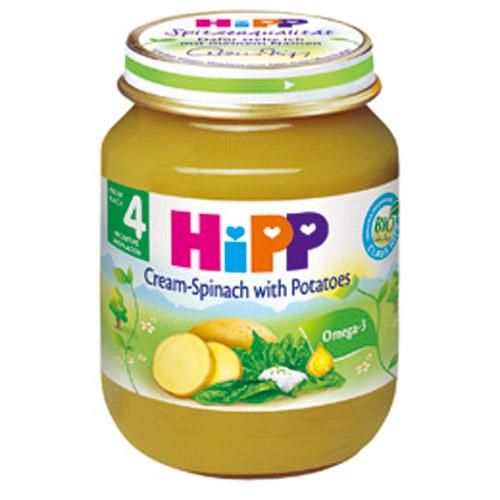 【奇買親子購物網】HiPP喜寶天然馬鈴薯菠菜泥/1入