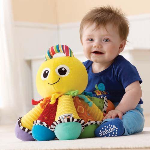 【奇買親子購物網】Lamaze 拉梅茲 嬰幼兒玩具-音感八爪章魚