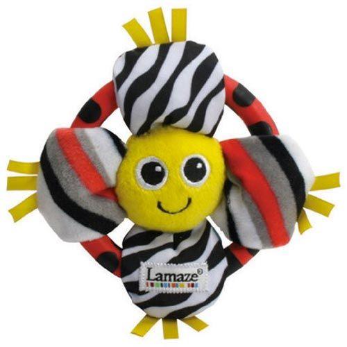 【奇買親子購物網】Lamaze 拉梅茲 嬰幼兒玩具-雙面花朵搖鈴