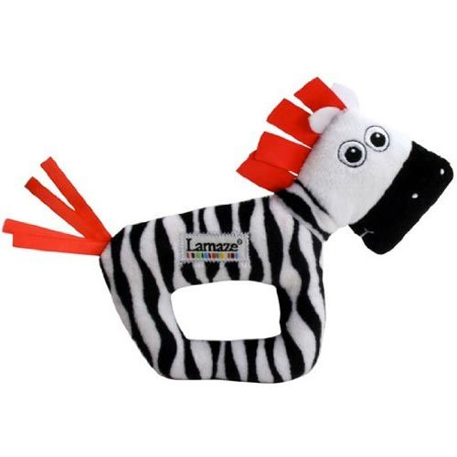 【奇買親子購物網】Lamaze 拉梅茲 嬰幼兒玩具-小斑馬搖鈴