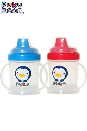 【奇買親子購物網】PUKU 硬式鴨嘴練習杯(藍/粉)