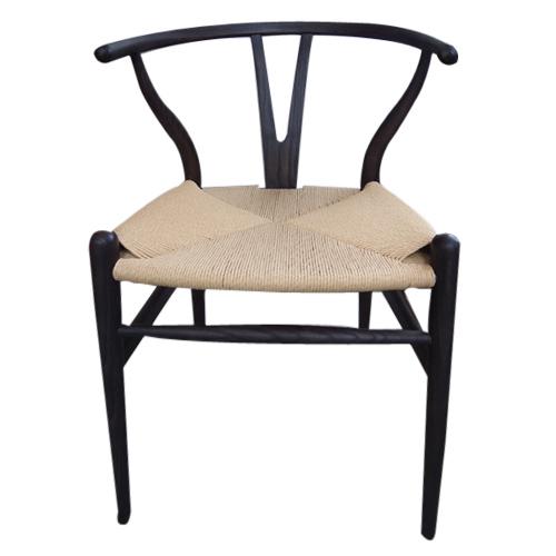 【奇買親子購物網】Y CHAIR ( MIT )餐椅Hans J. Wegner CH24紙藤坐墊  餐椅/書桌椅