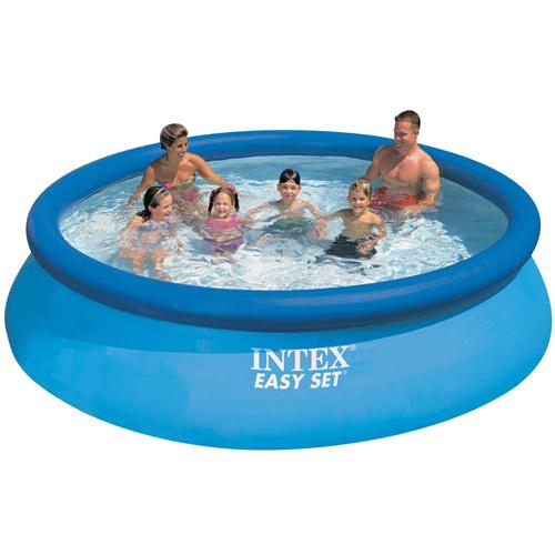 【奇買親子購物網】INTEX 超大厚膠疊型充氣家庭游泳池(366cm*76cm)