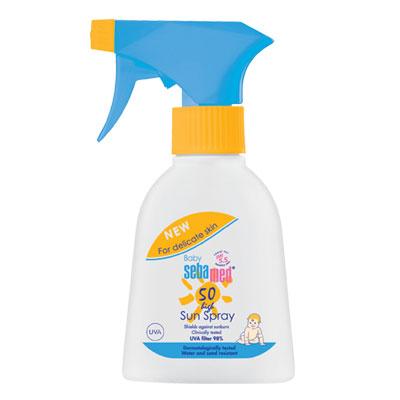 【奇買親子購物網】施巴 Sebamed 嬰兒防曬保濕乳SPF50