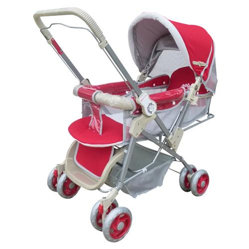 【奇買親子購物網】BabyBabe 雙向手推車-(紅/藍)