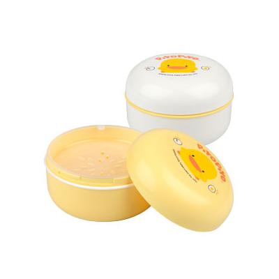 【奇買親子購物網】黃色小鴨 PiYO PiYO 痱子粉盒(白色/黃色)+隔層
