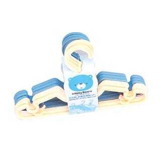 【奇買親子購物網】艾比熊 衣架組6入(藍+白)