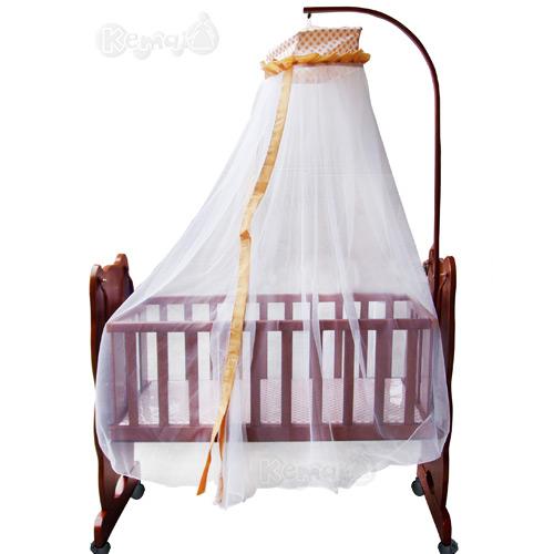 【奇買親子購物網】 Mother's love 領結熊造型電動搖床(咖啡)