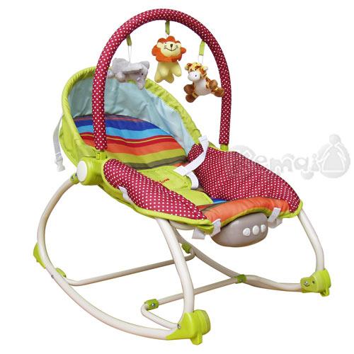 【奇買親子購物網】Mother's Love 嬰兒震動搖椅(綠色/藍色)