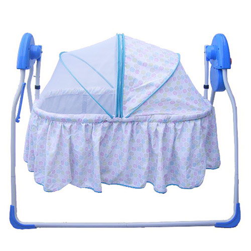 【奇買親子購物網】Mother's Love 嬰兒電動搖籃床(藍色/綠色)BC-131
