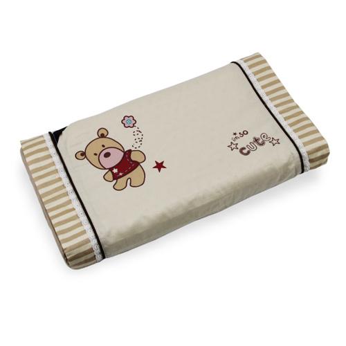 【奇買親子購物網】YIP-baby KUMA 3M 嬰兒乳膠健康枕(雙布套)