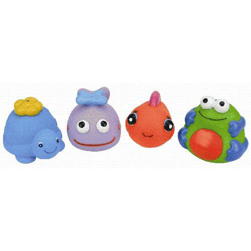 【奇買親子購物網】K's Kids Bath Toy Set 動物造型洗澡玩具組(4入組)