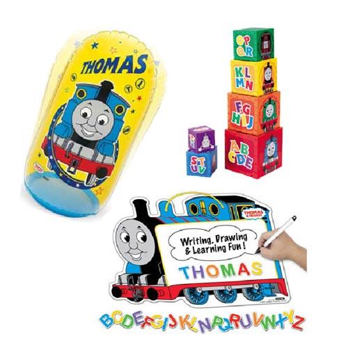【奇買親子購物網】湯瑪士 吸磁劃板+疊疊塔+充氣打擊袋 聖誕節特賣