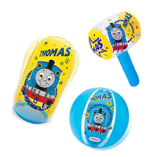 【奇買親子購物網】湯瑪士 沙灘球+充氣槌+充氣打擊袋 聖誕節特賣