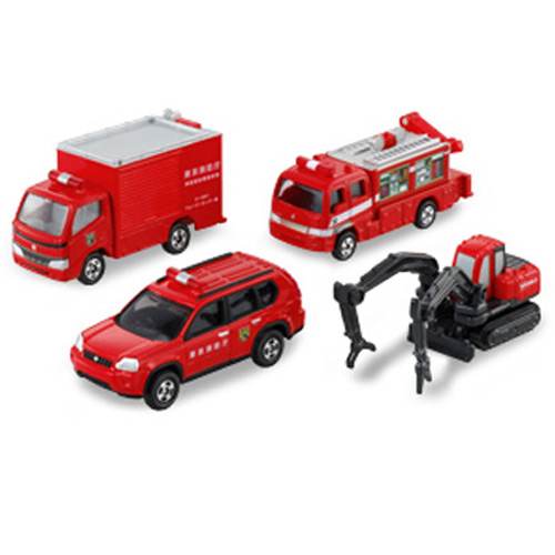 【奇買親子購物網】【TAKARA TOMY】TOMICA-汽車組 消防車輛組