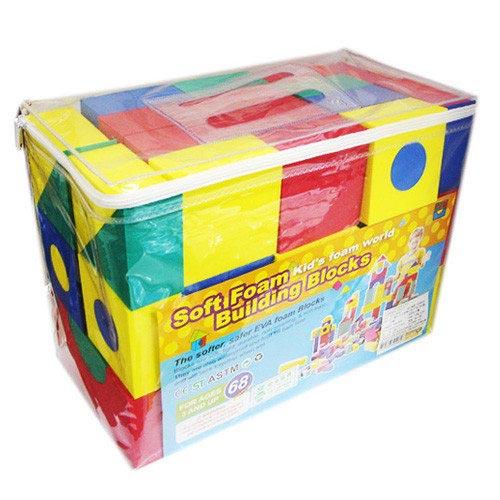 【奇買親子購物網】EVA創意積木/軟質發泡ST安全玩具(68片入)