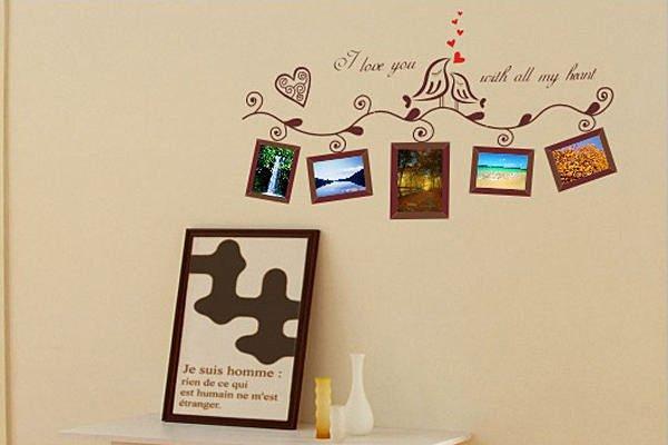 BO雜貨【YV2720】創意可重複貼壁貼 牆貼 背景貼 時尚組合壁貼樹 璧貼 磁磚貼 小鳥相片牆